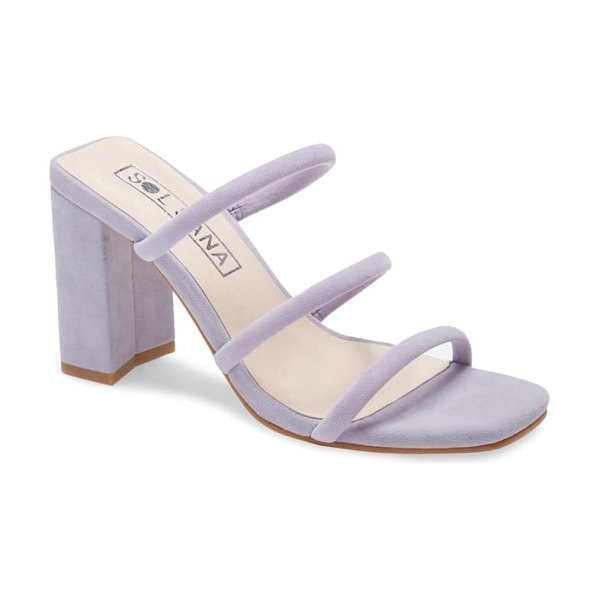 Sol Sana judith strappy sandal in lilac suede