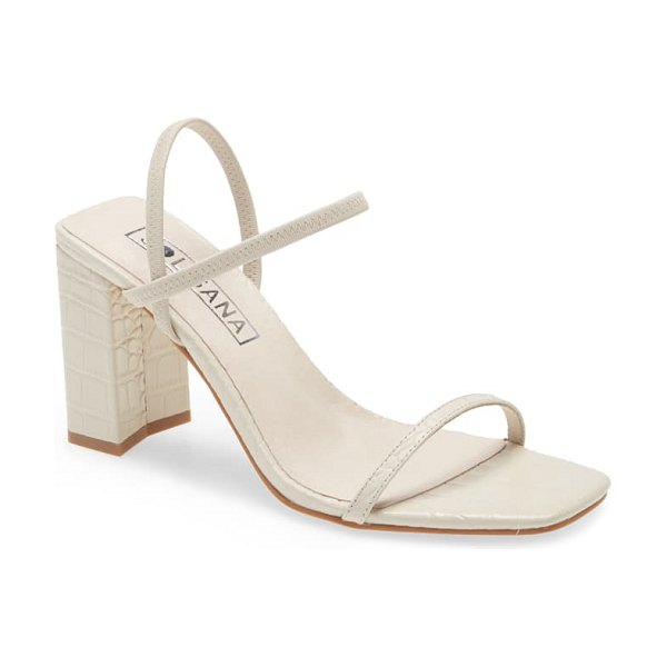 Sol Sana lily ankle strap sandal in ivory croco leather