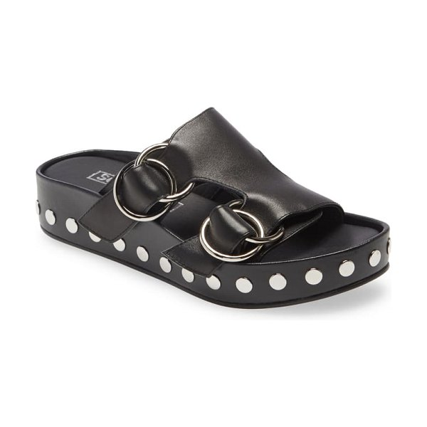 Sol Sana lucinda studded platform sandal in black leather