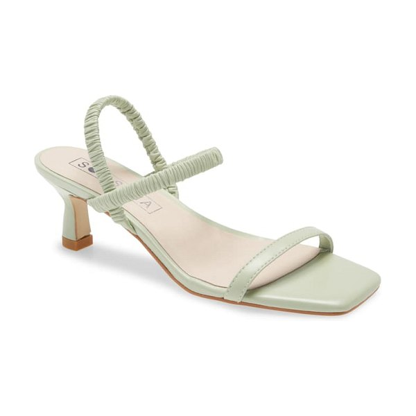 Sol Sana oscar ankle strap sandal in mint foam leather