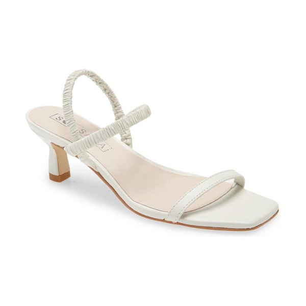 Sol Sana oscar ankle strap sandal in white leather