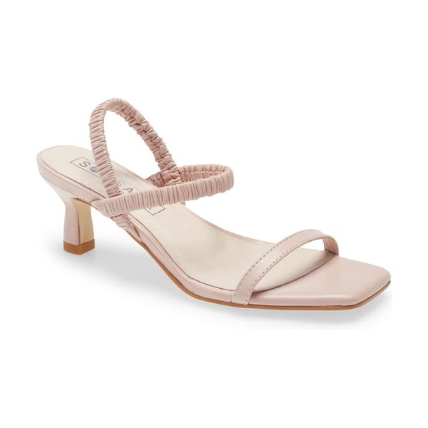 Sol Sana oscar ankle strap sandal in rosewater leather
