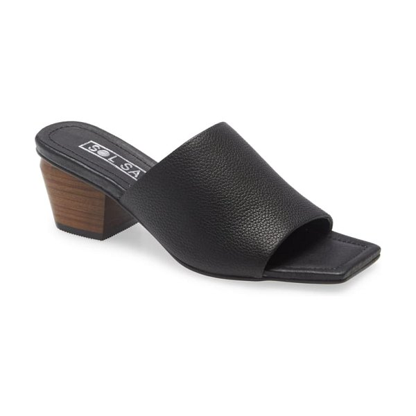 Sol Sana palma block heel sandal in black leather