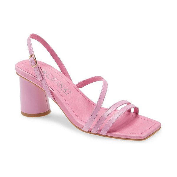 Sol Sana yole strappy sandal in pink leather