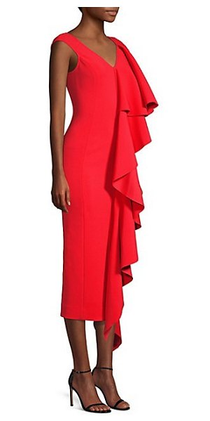 Solace London alora cascading ruffle dress in red