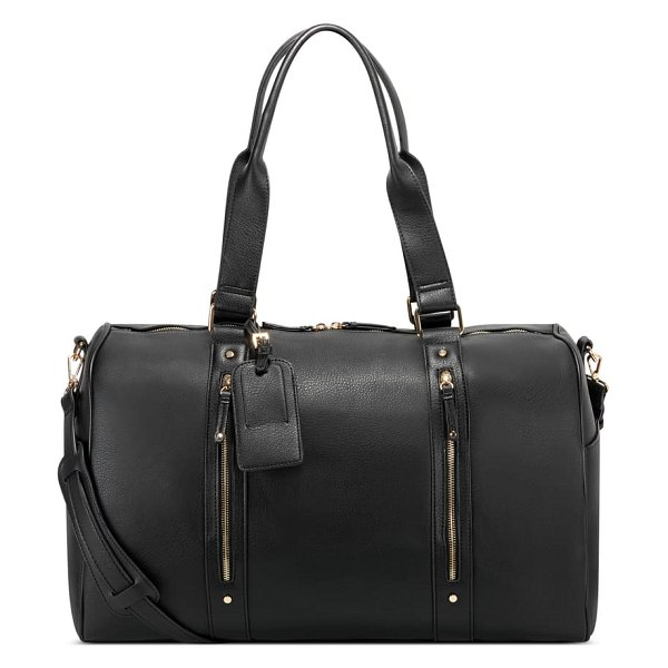 Sole Society abra faux leather duffle bag in black