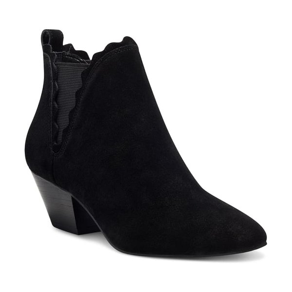 Sole Society candrah bootie in black suede