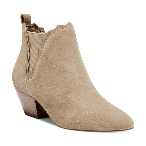 Sole Society candrah bootie in honey suede