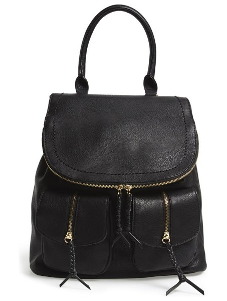 Sole Society emery faux leather backpack in black