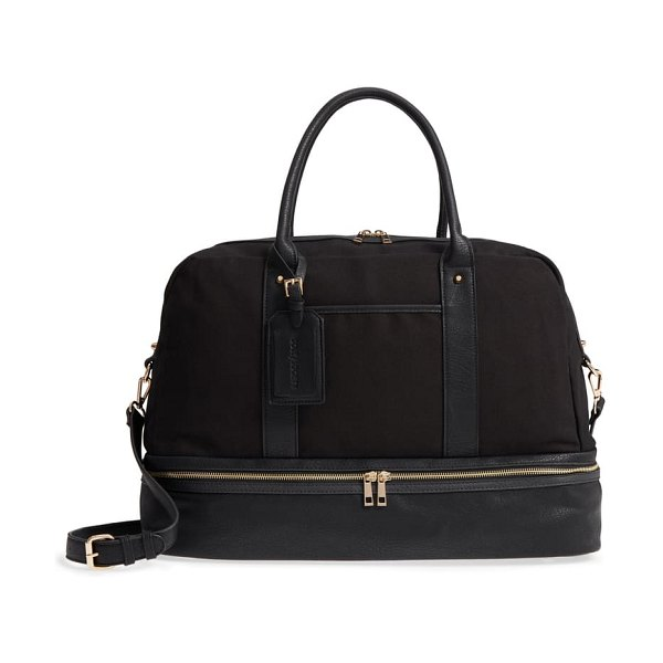 Sole Society faux leather weekend bag in black