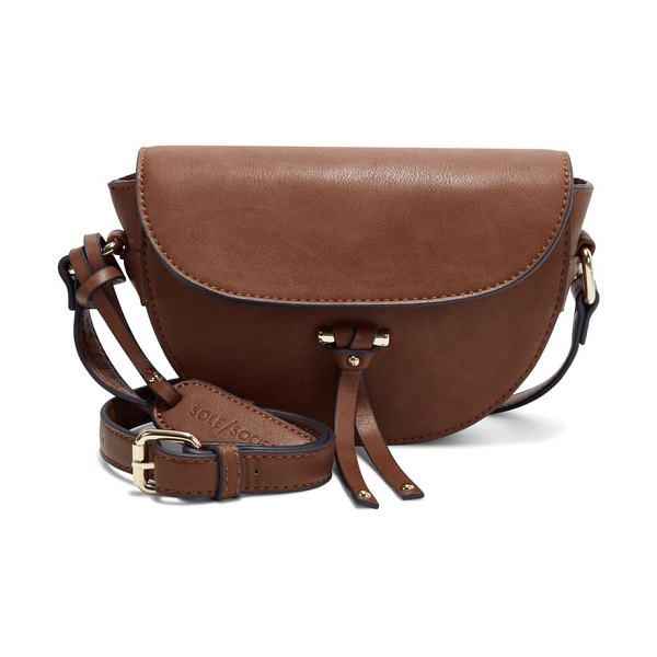 Sole Society lezar faux leather crossbody bag in whiskey brown