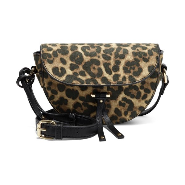 Sole Society lezar faux leather crossbody bag in leopard