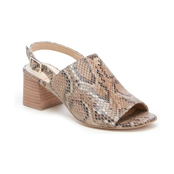 Sole Society shawde slingback sandal in brown snake print leather