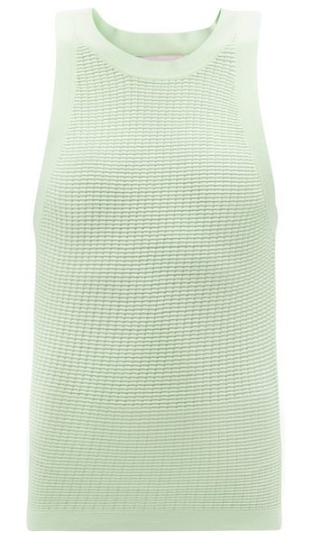 Solid & Striped the carson technical mesh tank top in green multi