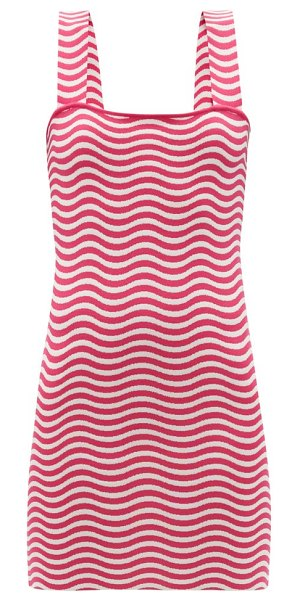 Solid & Striped the ryan striped jersey mini sundress in red white