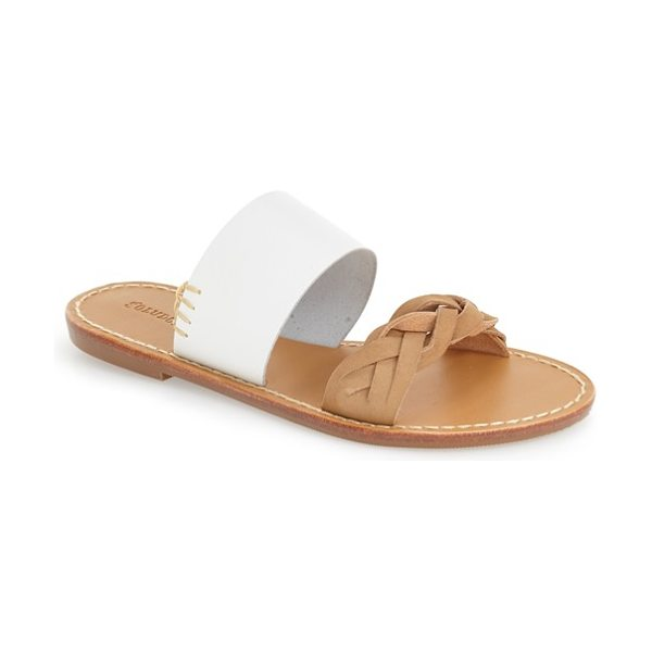 Soludos slide sandal in white leather