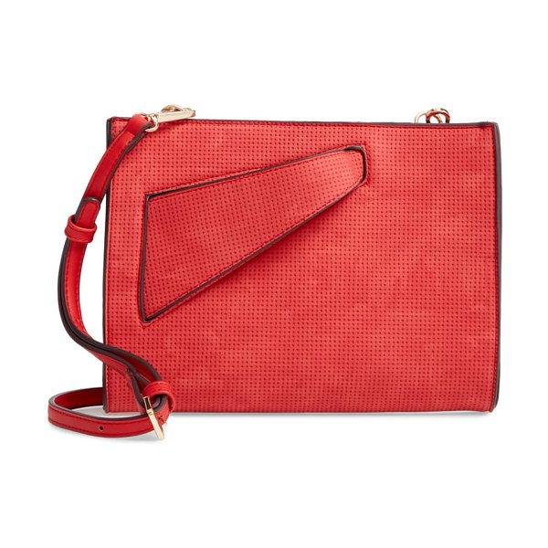 Sondra Roberts convertible clutch in red