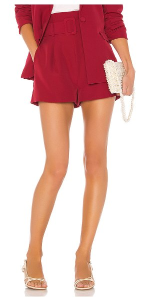 Song of Style arwen shorts in red berry