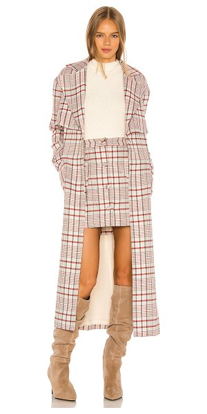 Song of Style ginny coat in plaid multi