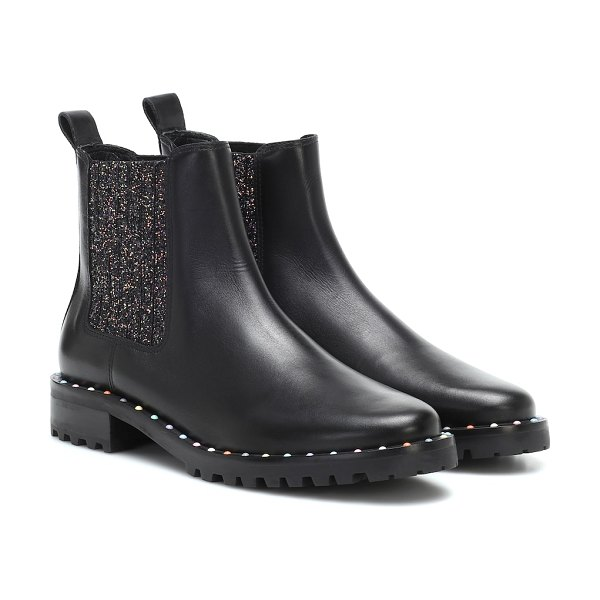 Sophia Webster bessie leather ankle boot in black
