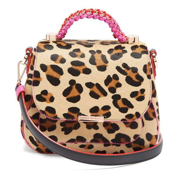 Sophia Webster eloise leopard print calf hair and leather bag in leopard - Sophia Webster - Tap into the season's animal print...