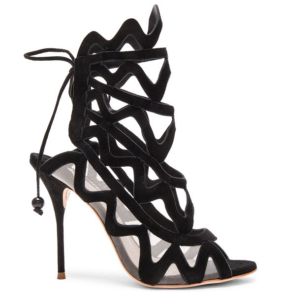 Sophia Webster Suede Mila Heels in black - Suede upper with leather sole.  Made in Brazil.  Approx...