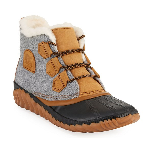 Sorel Out-N-About Plus Waterproof Duck Boots in quarry