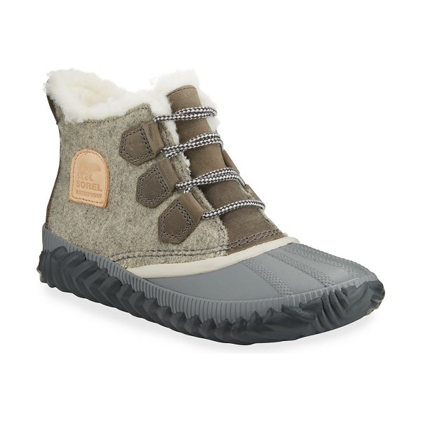 Sorel Out-N-About Plus Waterproof Duck Boots in gray