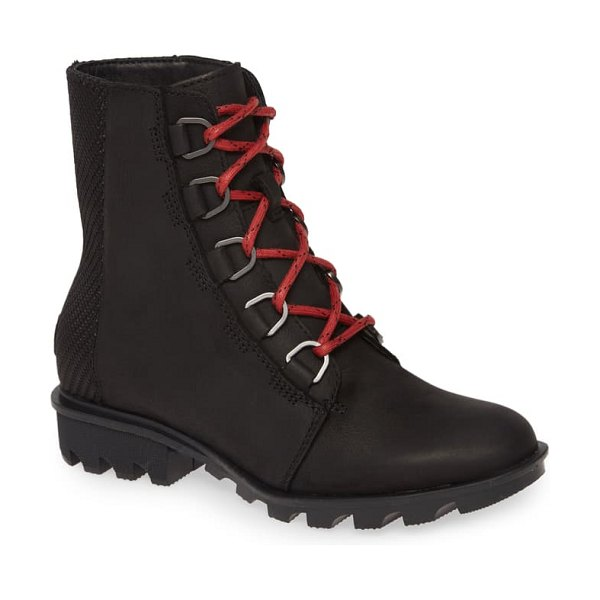 Sorel phoenix waterproof bootie in black leather