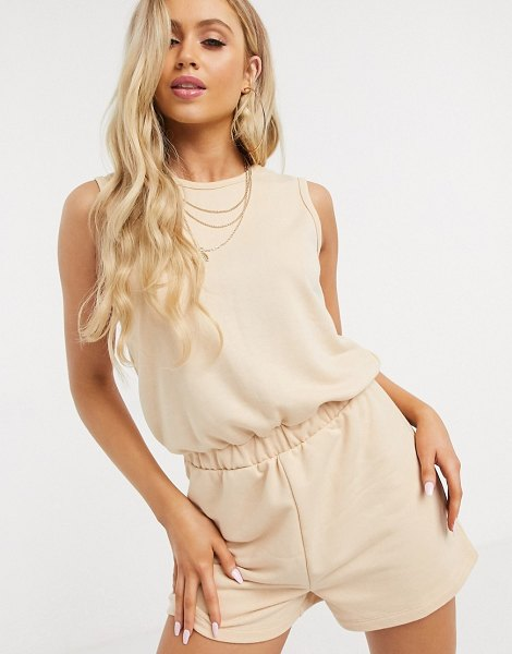 South Beach romper suit in beige in beige