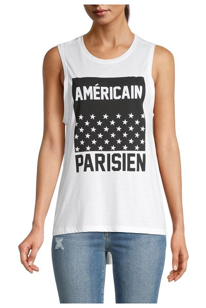 South Parade Graphic Tank Top in white