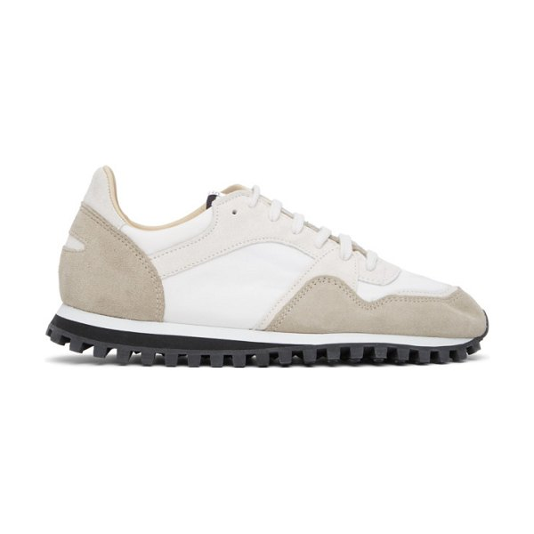 Spalwart and grey marathon trail low sneakers in white