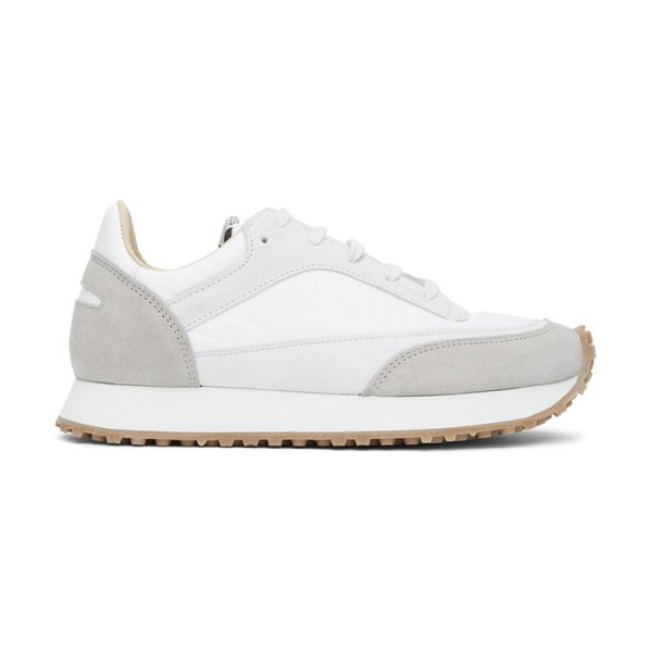 Spalwart and grey tempo low sneakers in white