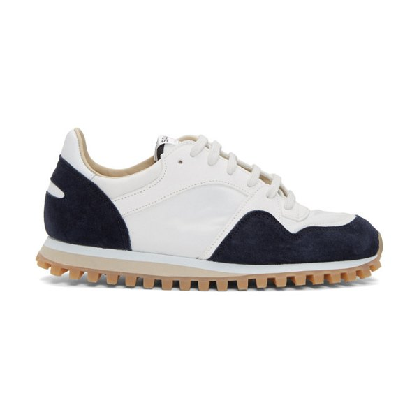 Spalwart white and  marathon trial low wbhs sneakers in navy