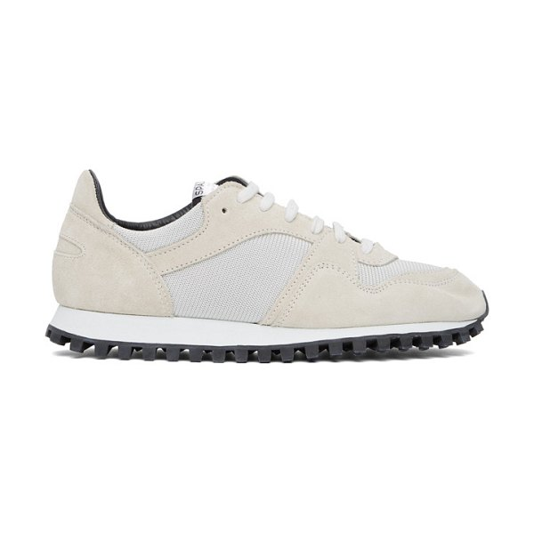 Spalwart white marathon trail low sneakers in pearl
