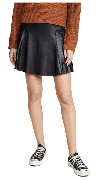 SPANX faux leather skater skirt in very black