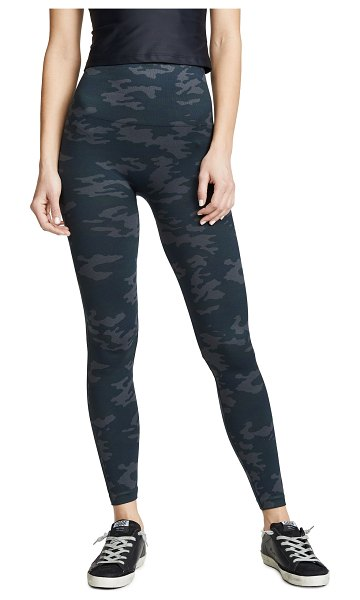 SPANX seamless camo leggings in black camo