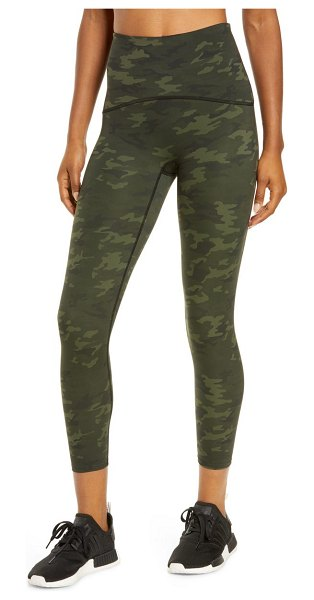 SPANX spanx(r) printed cropped leggings in green camo