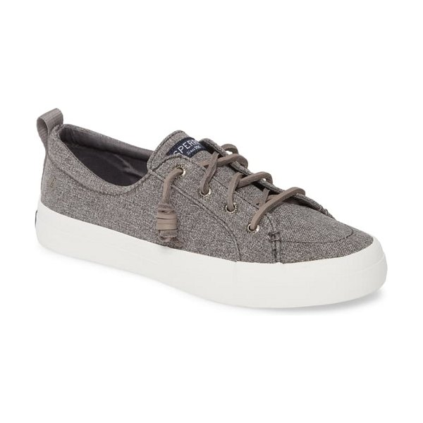 Sperry crest vibe sneaker in grey sparkle chambray fabric