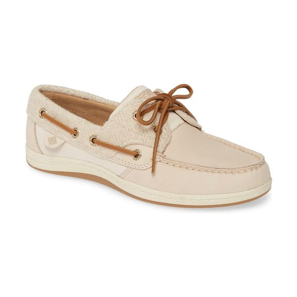 Sperry top-sider koifish loafer in ivory leather/ wool