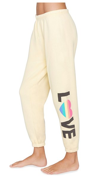 Spiritual Gangster Perfect Love Terry Sweatpants in sunlight