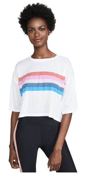 Spiritual Gangster rainbow active sessions tee in white