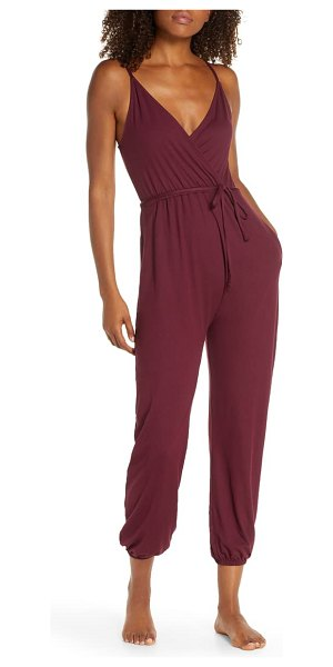 Spiritual Gangster sun salutation jumpsuit in fig