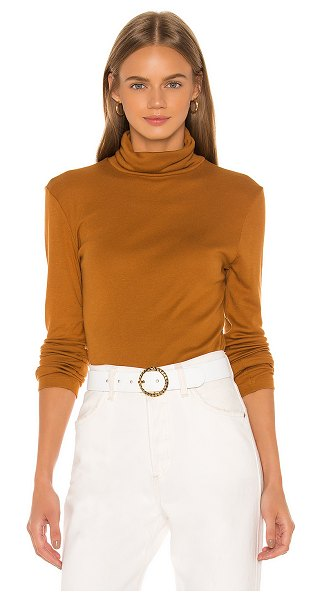 Splendid classic turtleneck in burnt umber