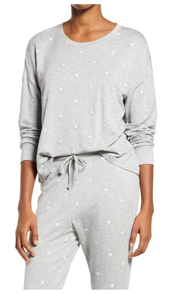 Splendid embroidered pullover in heather grey