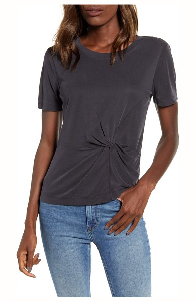 Splendid knot detail tee in black