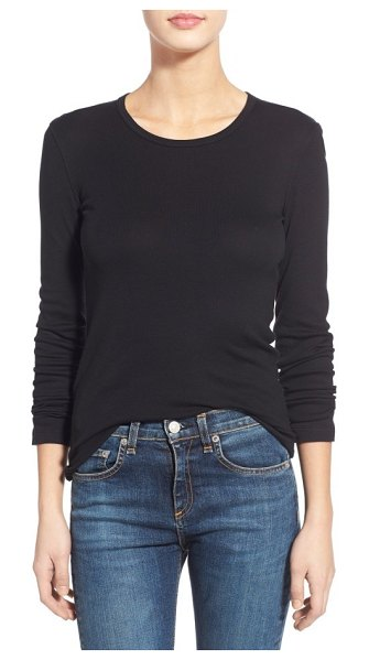 Splendid long sleeve crewneck tee in black