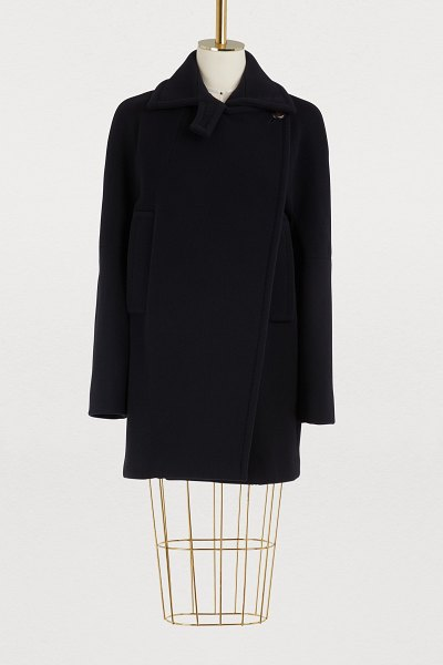 SPORTMAX Alias wool coat in navy