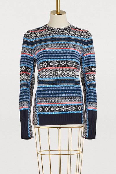 SPORTMAX Estroso wool sweater in turquoise - Artistic director Grazia Malagoli broke down...