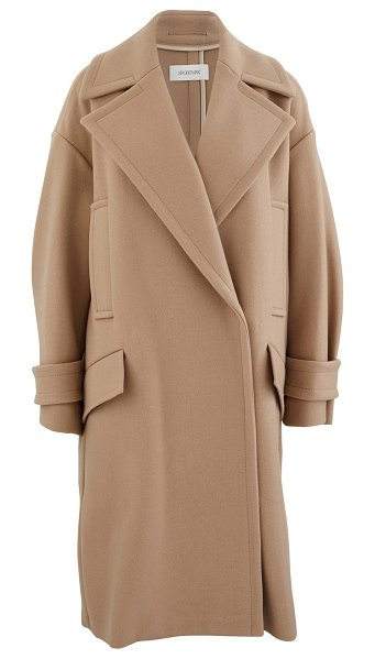 SPORTMAX Wool and cashmere coat in camel